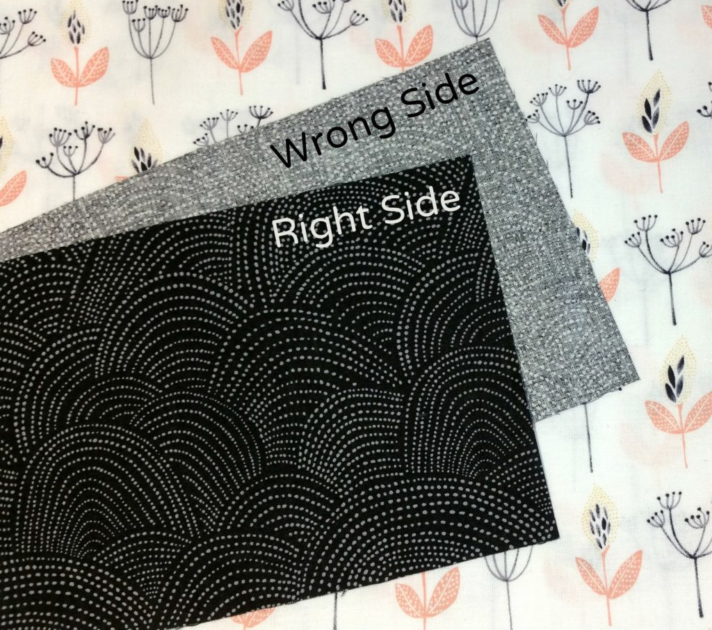 Right vs Wrong Side of Fabric {goatfishgoods.com}